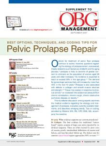 Options for treatment of pelvic floor prolapse