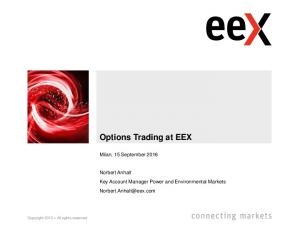 Options Trading at EEX