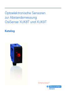 Optoelektronische Sensoren zur Abstandsmessung OsiSense XUK8T und XUK9T