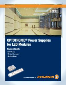 OPTOTRONIC Power Supplies for LED Modules