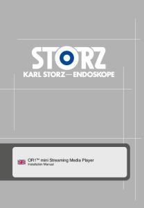 OR1 mini Streaming Media Player Installation Manual