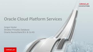 Oracle Cloud Platform Services