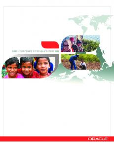 ORACLE CORPORATE CITIZENSHIP REPORT 2008