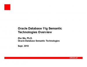 Oracle Database 11g Semantic Technologies Overview
