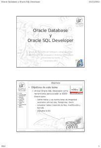 Oracle Database y Oracle SQL Developer
