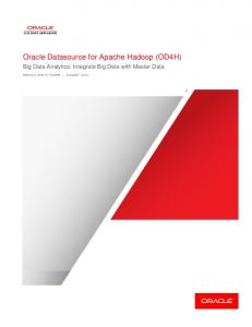 Oracle Datasource for Apache Hadoop (OD4H)