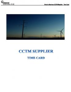 Oracle ebusiness CCTM Supplier: Time Card