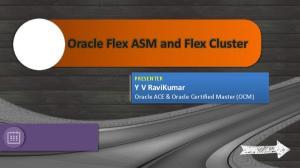 Oracle Flex ASM and Flex Cluster