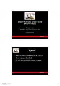 Oracle Rdb and Oracle 9iAS Web Services