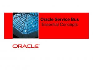 Oracle Service Bus Essential Concepts