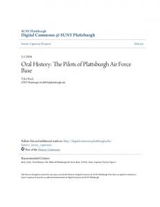 Oral History: The Pilots of Plattsburgh Air Force Base