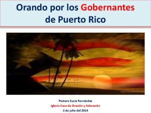 Orando por los Gobernantes de Puerto Rico