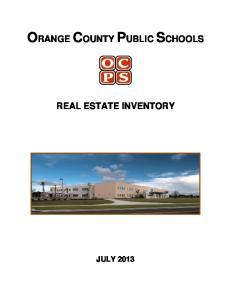 ORANGE COUNTY PUBLIC SCHOOLS REAL ESTATE INVENTORY