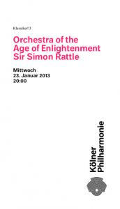 Orchestra of the Age of Enlightenment Sir Simon Rattle