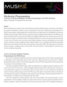 Orchestra Programming