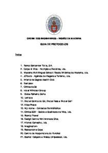 ORDEM DOS ENGENHEIROS REGIÃO DA MADEIRA GUIA DE PROTOCOLOS