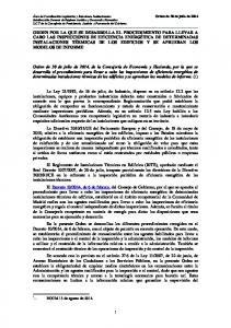 Orden de 30 de julio de 2014