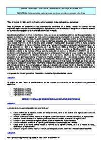Orden de 7 abril 1994 Diari Oficial Generalitat de Catalunya de 18 abril 1994