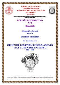 ORDEN DE LOS CABALLEROS MASONES ELUS COHEN DEL UNIVERSO