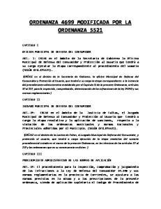 ORDENANZA 4699 MODIFICADA POR LA ORDENANZA 5521