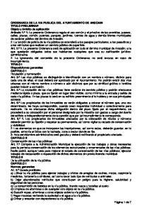 ORDENANZA DE LA VIA PUBLICA DEL AYUNTAMIENTO DE ANSOAIN TITULO PRELIMINAR