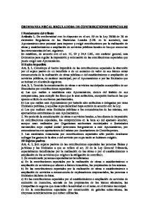 ORDENANZA FISCAL REGULADORA DE CONTRIBUCIONES ESPECIALES