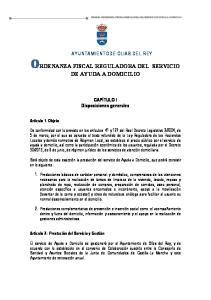 ORDENANZA FISCAL REGULADORA DEL SERVICIO