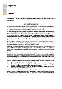 ORDENANZA MUNICIPAL DE CONVIVENCIA Y CIVISMO DEL AYUNTAMIENTO DE CAMAS