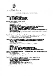 ORDENANZA MUNICIPAL DE LIMPIEZA URBANA