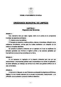 ORDENANZA MUNICIPAL DE LIMPIEZA