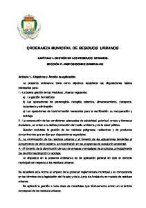 ORDENANZA MUNICIPAL DE RESIDUOS URBANOS