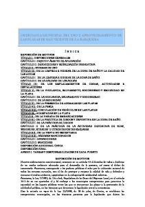 ORDENANZA MUNICIPAL DEL USO Y APROVECHAMIENTO DE LAS PLAYAS DE SAN VICENTE DE LA BARQUERA