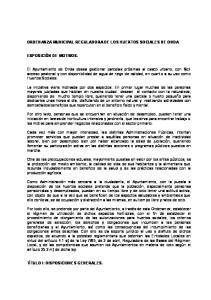 ORDENANZA MUNICIPAL REGULADORA DE LOS HUERTOS SOCIALES DE ONDA