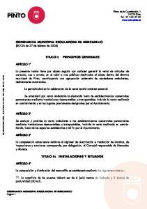 ORDENANZA MUNICIPAL REGULADORA DE MERCADILLO (BOCM de 27 de febrero de 2004)