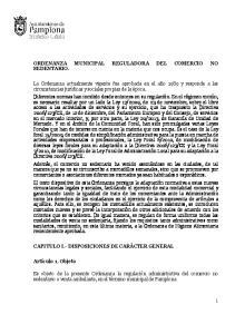 ORDENANZA MUNICIPAL REGULADORA DEL COMERCIO NO SEDENTARIO