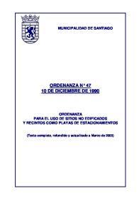 ORDENANZA N DE DICIEMBRE DE 1990