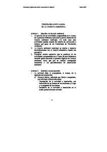 ORDENANZA REGULADORA DE LA LICENCIA AMBIENTAL