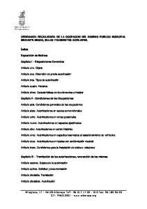 ORDENANZA REGULADORA DE LA OCUPACION DEL DOMINIO PUBLICO MUNICIPAL MEDIANTE MESAS, SILLAS Y ELEMENTOS AUXILIARES
