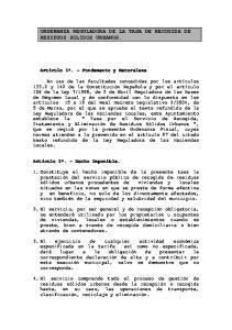 ORDENANZA REGULADORA DE LA TASA DE RECOGIDA DE RESIDUOS SOLIDOS URBANOS