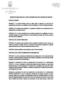 ORDENANZA REGULADORA DE LA VENTA NO SEDENTARIA EN EL MUNICIPIO DE CABANES