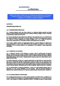 ORDENANZA REGULADORA DE LAS CONDICIONES HIGIENICO-SANITARIAS