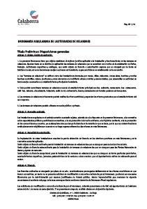 ORDENANZA REGULADORA DE LAS TERRAZAS DE VELADORES