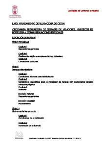 ORDENANZA REGULADORA DE TERRAZAS DE VELADORES, QUIOSCOS DE HOSTELERIA Y OTRAS INSTALACIONES ESPECIALES