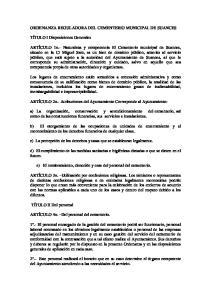 ORDENANZA REGULADORA DEL CEMENTERIO MUNICIPAL DE SUANCES