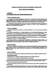 ORDENANZA REGULADORA DEL COMERCIO AMBULANTE EN LA CIUDAD DE CARMONA