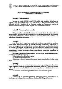 ORDENANZA REGULADORA DEL IMPUESTO SOBRE ACTIVIDADES ECONOMICAS