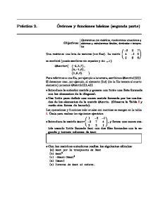 Órdenes y funciones básicas (segunda parte) Práctica 2