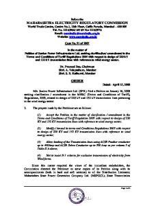ORDER Dated: April 15, 2008