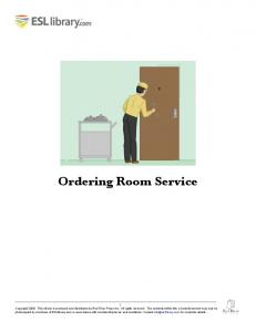 Ordering Room Service