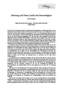 Ordnung und Chaos, Zufall und Notwendigkeit